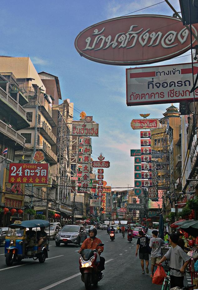Yaowarat Road en Chinatown