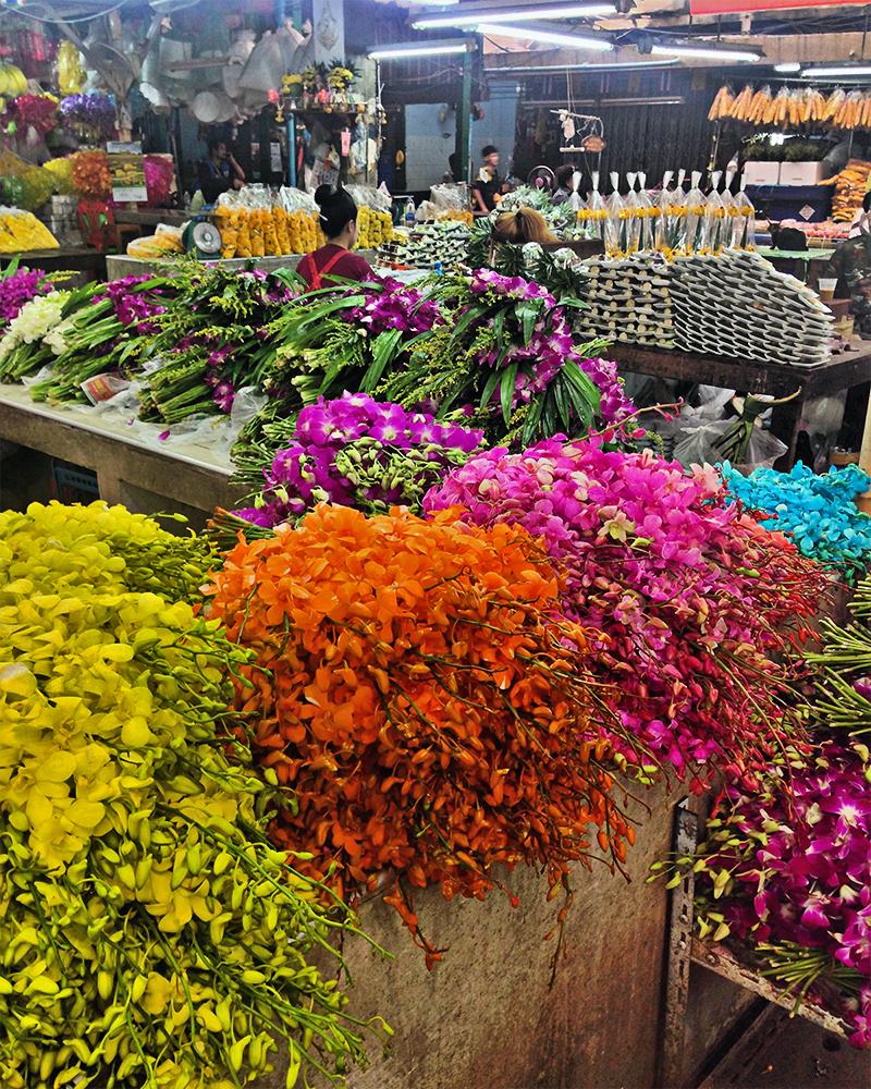Mercado de las flores - Pak Khlong Talat Flower Market