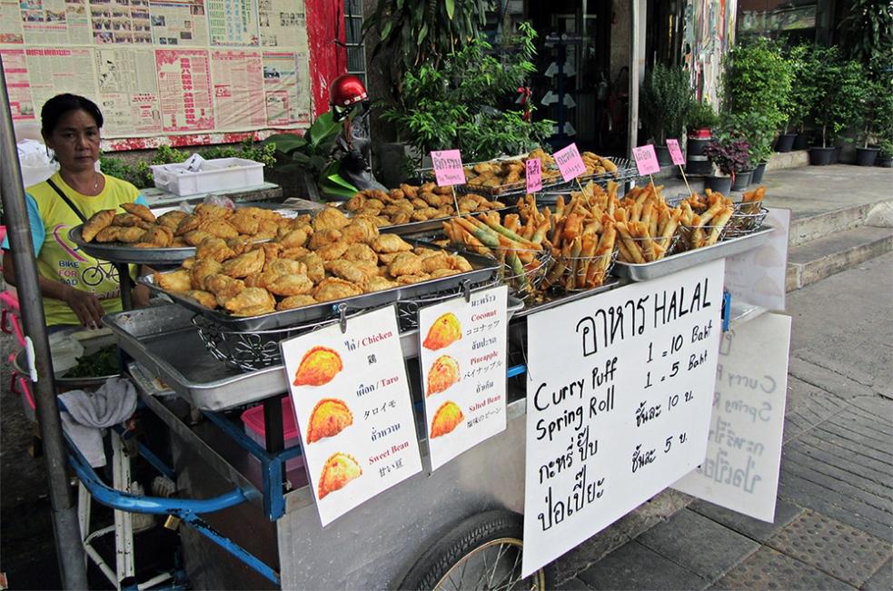 Puesto de comida en Bangkok