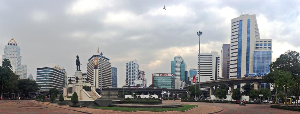Silom, el distrito financiero de Bangkok