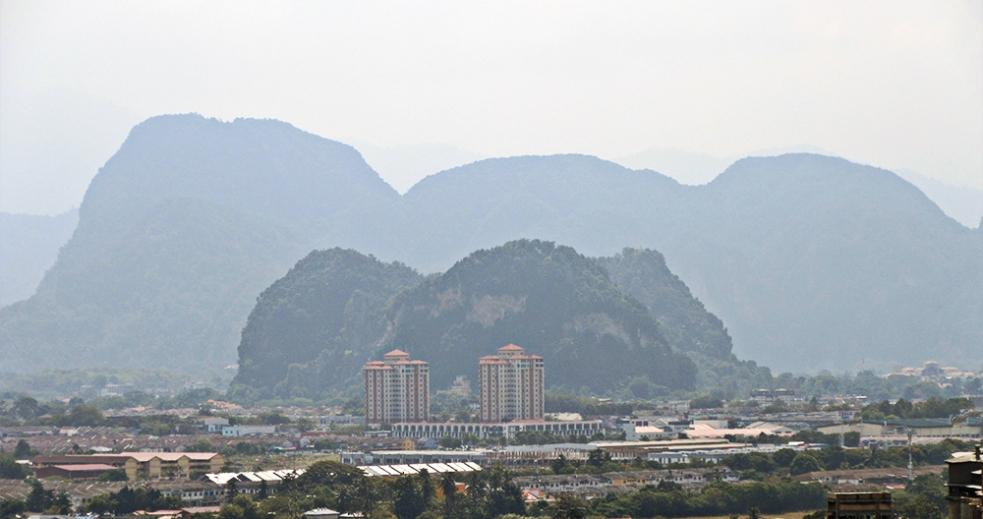 Hermosas vistas de la ciudad de Ipoh