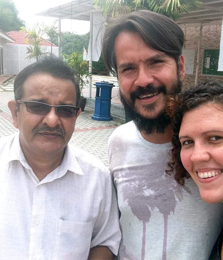 Con Mr. Velu en Ipoh, Malasia