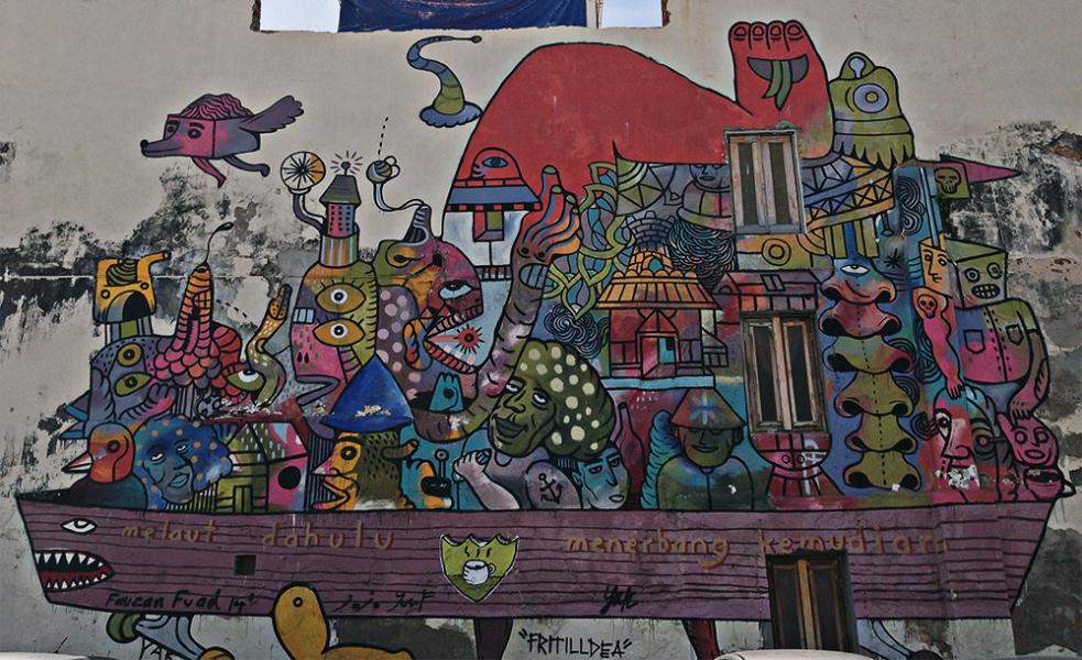 Street art en George Town Penang