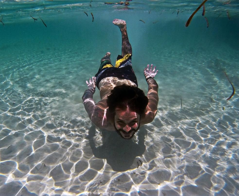 Bajo el agua en Gili Air