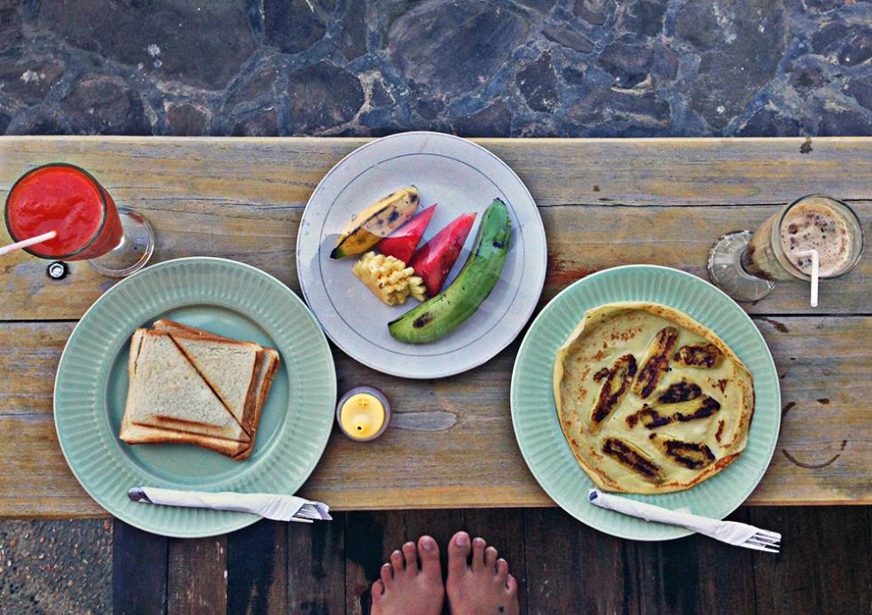 Desayuno en Gili Air