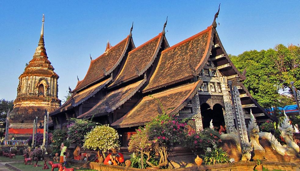 Wat Phan Tao, uno de los templos más bellos de Chiang Mai