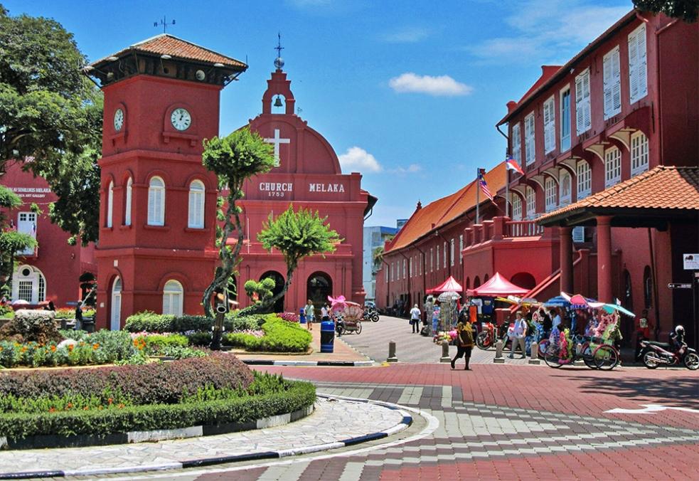 Iglesia en el centro de Malaca