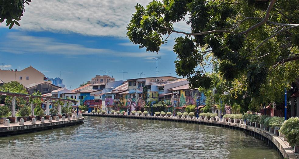 Ciudad de Malaca y su río