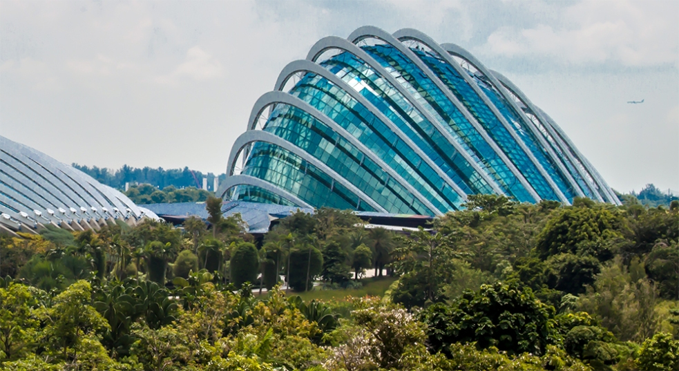 Edificio del Cloud Forest en Gardens by the Bay
