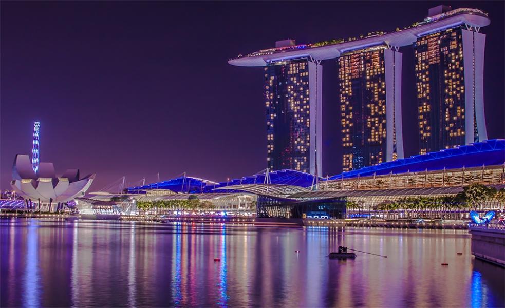 Parte del skyline de Singapur