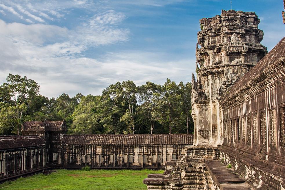 Parte del majestuoso Angkor Wat