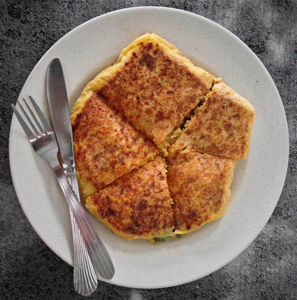 Murtabak de cordero y queso