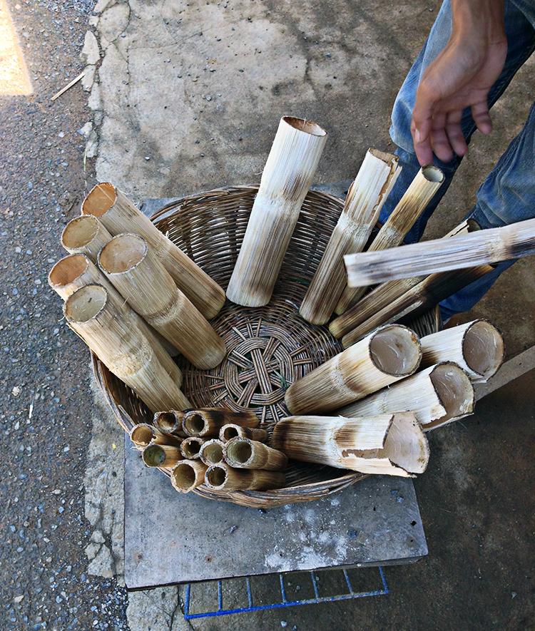 Bamboo rice en Camboya