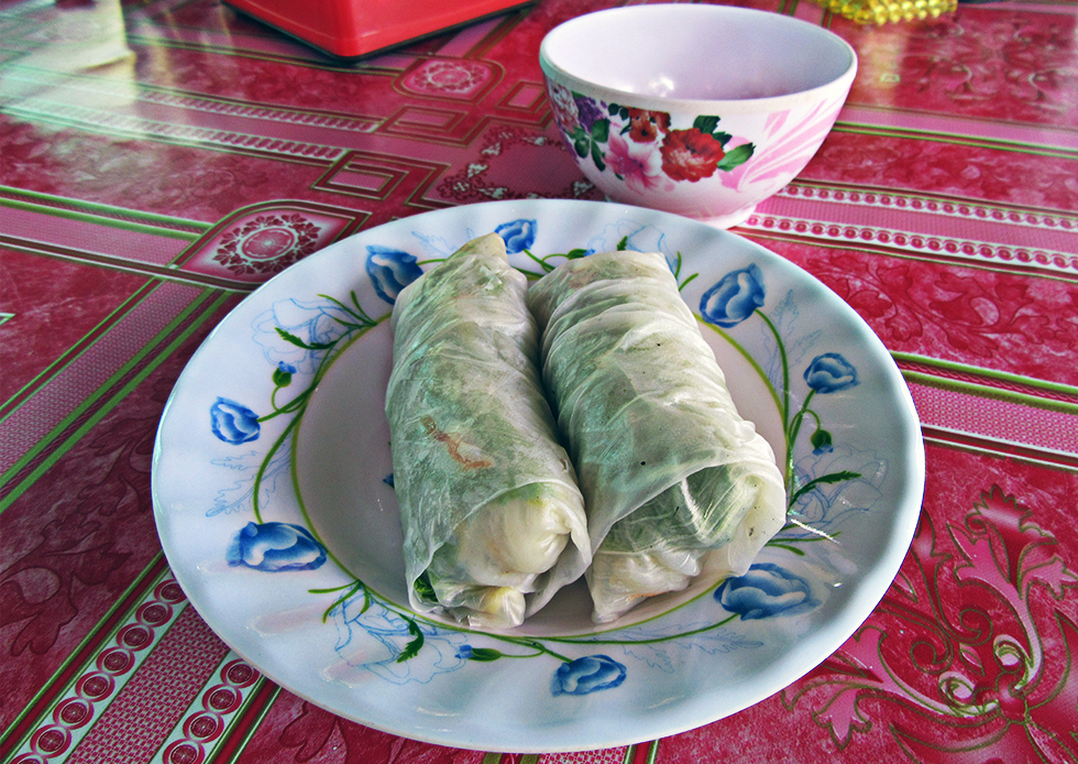 Rollitos frescos o spring rolls de papel de arroz