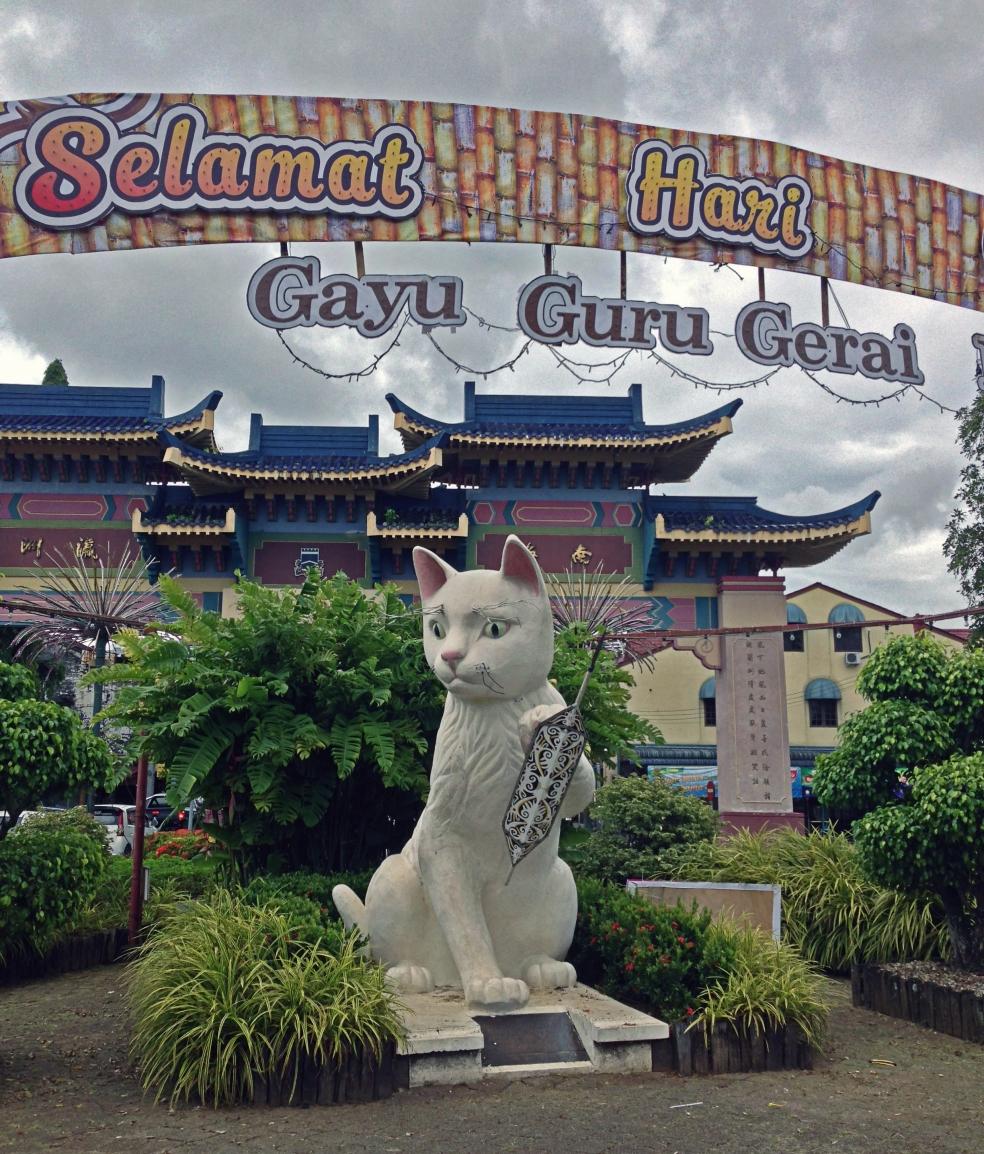 Entrada al Chinatown de Kuching
