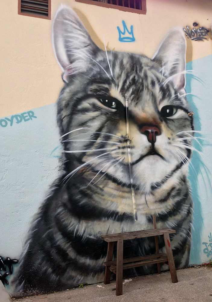 street art cat kuching