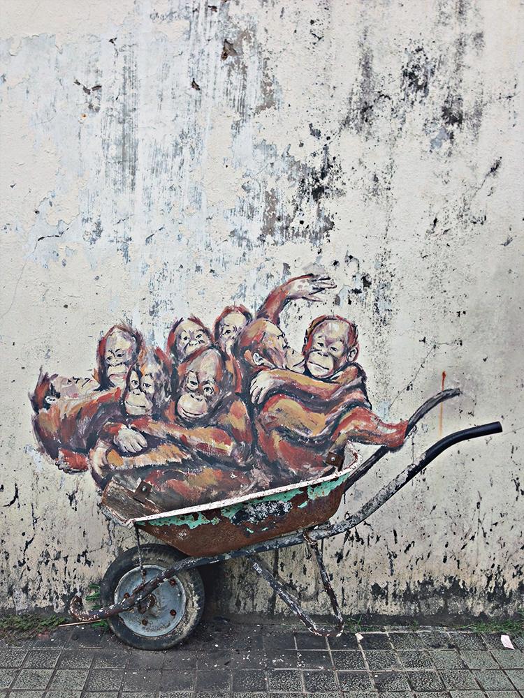 Street art en Kuching