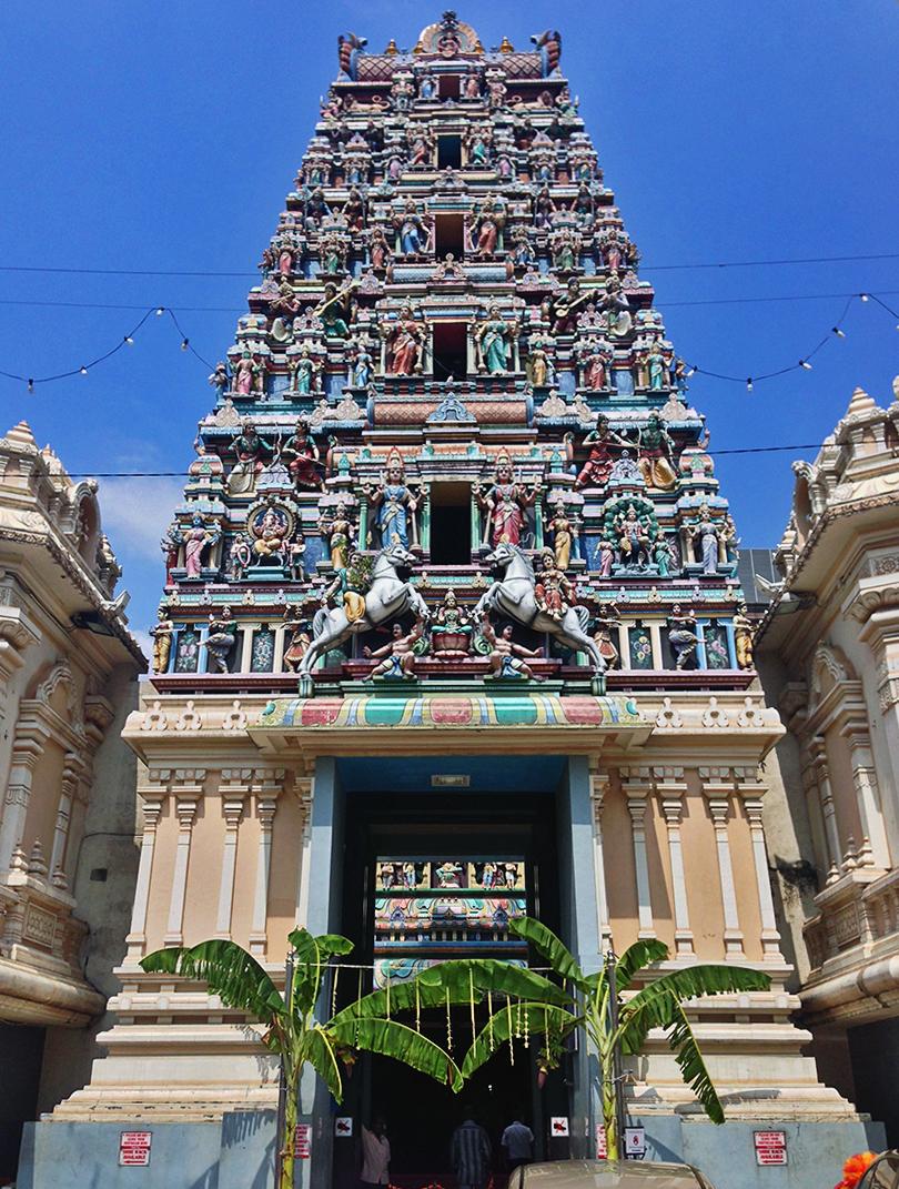 Templo hindú en Little India en KL